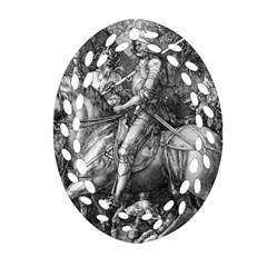 Death And The Devil   Albrecht D¨1rer Oval Filigree Ornament (two Sides)