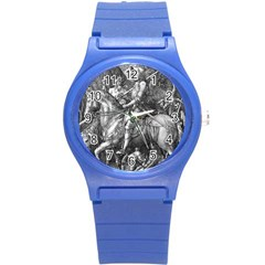 Death And The Devil   Albrecht D¨1rer Round Plastic Sport Watch (s)