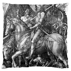 Death And The Devil   Albrecht D¨1rer Large Cushion Case (two Sides)