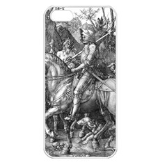Death And The Devil   Albrecht D¨1rer Apple Iphone 5 Seamless Case (white)