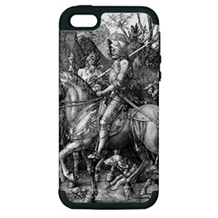 Death And The Devil   Albrecht D¨1rer Apple Iphone 5 Hardshell Case (pc+silicone)