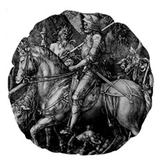 Death And The Devil   Albrecht D¨1rer Large 18  Premium Round Cushions
