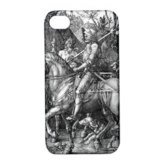 Death And The Devil   Albrecht D¨1rer Apple Iphone 4/4s Hardshell Case With Stand
