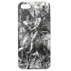 Death And The Devil   Albrecht D¨1rer Apple Iphone 5 Hardshell Case With Stand