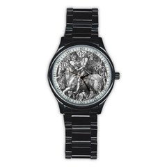 Death And The Devil   Albrecht D¨1rer Stainless Steel Round Watch