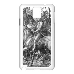 Death And The Devil   Albrecht D¨1rer Samsung Galaxy Note 3 N9005 Case (white)