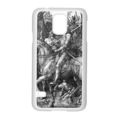Death And The Devil   Albrecht D¨1rer Samsung Galaxy S5 Case (white)