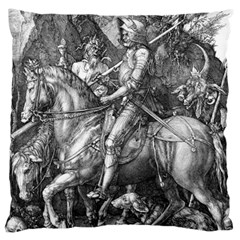 Death And The Devil   Albrecht D¨1rer Large Flano Cushion Case (two Sides)