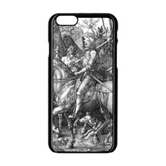 Death And The Devil   Albrecht D¨1rer Apple Iphone 6/6s Black Enamel Case
