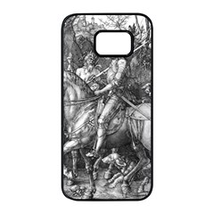 Death And The Devil   Albrecht D¨1rer Samsung Galaxy S7 Edge Black Seamless Case