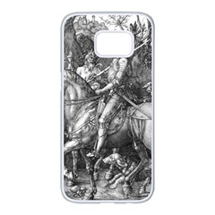 Death And The Devil   Albrecht D¨1rer Samsung Galaxy S7 Edge White Seamless Case