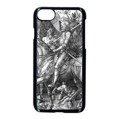 Death And The Devil   Albrecht D¨1rer Apple Iphone 7 Seamless Case (black)