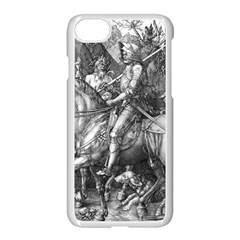 Death And The Devil   Albrecht D¨1rer Apple Iphone 7 Seamless Case (white)