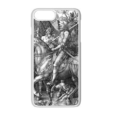 Death And The Devil   Albrecht D¨1rer Apple Iphone 8 Plus Seamless Case (white)