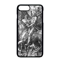 Death And The Devil   Albrecht D¨1rer Apple Iphone 8 Plus Seamless Case (black)