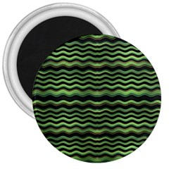 Modern Wavy Stripes Pattern 3  Magnets