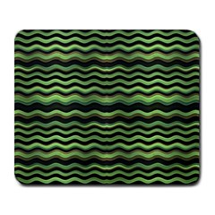 Modern Wavy Stripes Pattern Large Mousepads