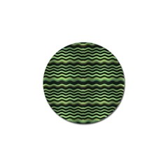 Modern Wavy Stripes Pattern Golf Ball Marker (10 Pack)