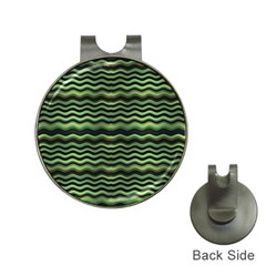 Modern Wavy Stripes Pattern Hat Clips With Golf Markers