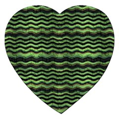 Modern Wavy Stripes Pattern Jigsaw Puzzle (heart)