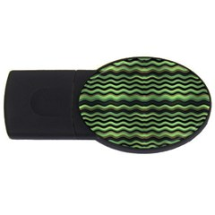 Modern Wavy Stripes Pattern Usb Flash Drive Oval (4 Gb)