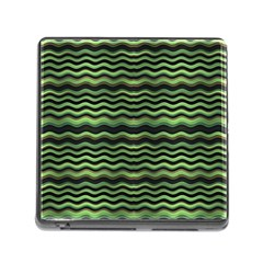 Modern Wavy Stripes Pattern Memory Card Reader (square)