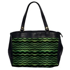 Modern Wavy Stripes Pattern Office Handbags