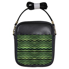 Modern Wavy Stripes Pattern Girls Sling Bags