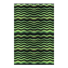 Modern Wavy Stripes Pattern Shower Curtain 48  X 72  (small)  by dflcprints