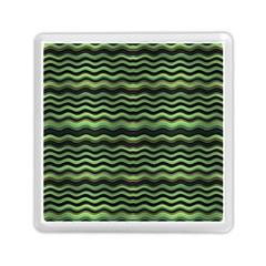 Modern Wavy Stripes Pattern Memory Card Reader (square)