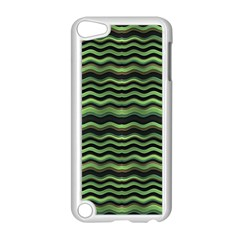 Modern Wavy Stripes Pattern Apple Ipod Touch 5 Case (white)