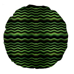 Modern Wavy Stripes Pattern Large 18  Premium Round Cushions