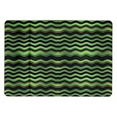 Modern Wavy Stripes Pattern Samsung Galaxy Tab 10 1  P7500 Flip Case