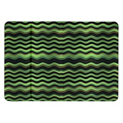 Modern Wavy Stripes Pattern Samsung Galaxy Tab 8 9  P7300 Flip Case by dflcprints