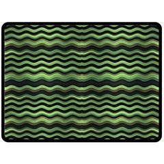 Modern Wavy Stripes Pattern Double Sided Fleece Blanket (large)