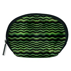 Modern Wavy Stripes Pattern Accessory Pouches (medium)