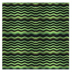 Modern Wavy Stripes Pattern Large Satin Scarf (square)