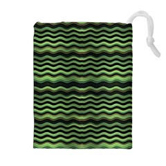 Modern Wavy Stripes Pattern Drawstring Pouches (extra Large)