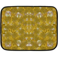 Golden Stars In Modern Renaissance Style Fleece Blanket (mini)