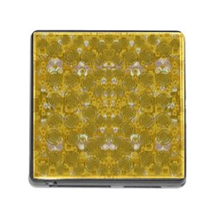 Golden Stars In Modern Renaissance Style Memory Card Reader (square) by pepitasart
