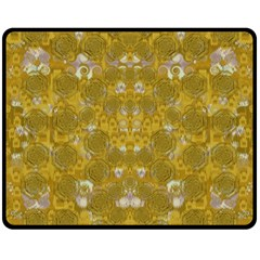 Golden Stars In Modern Renaissance Style Fleece Blanket (medium)  by pepitasart