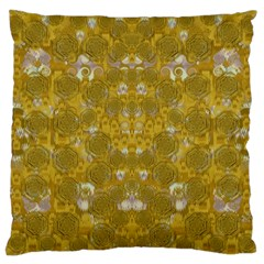 Golden Stars In Modern Renaissance Style Large Cushion Case (two Sides) by pepitasart