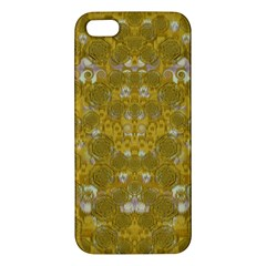 Golden Stars In Modern Renaissance Style Apple Iphone 5 Premium Hardshell Case