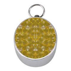 Golden Stars In Modern Renaissance Style Mini Silver Compasses