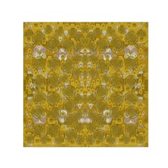 Golden Stars In Modern Renaissance Style Small Satin Scarf (square)