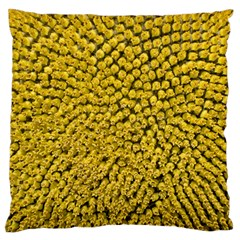 Sunflower Head (helianthus Annuus) Hungary Felsotold Standard Flano Cushion Case (one Side)