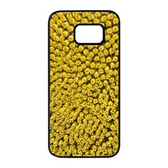 Sunflower Head (helianthus Annuus) Hungary Felsotold Samsung Galaxy S7 Edge Black Seamless Case