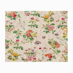Vintage Flowers Wallpaper Pattern Small Glasses Cloth (2 Side)