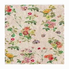 Vintage Flowers Wallpaper Pattern Medium Glasses Cloth (2 Side)