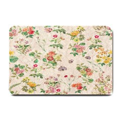Vintage Flowers Wallpaper Pattern Small Doormat